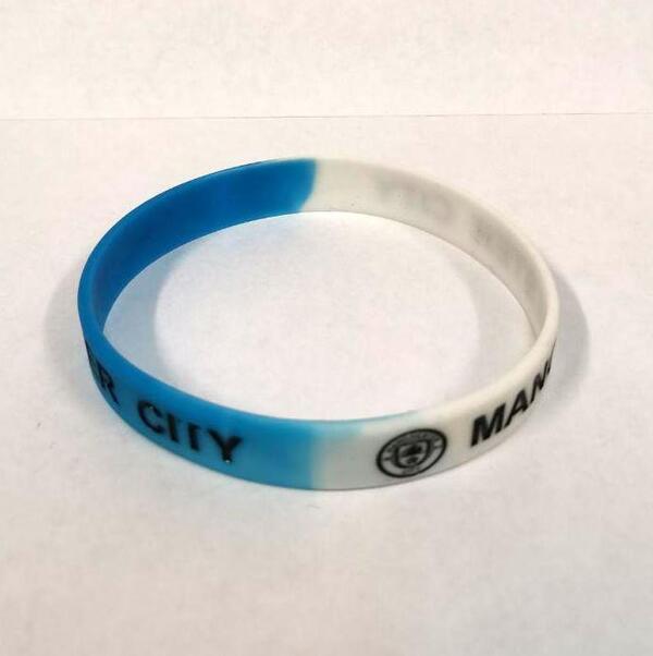 Силиконовый браслет с клубной символикой Манчестер Сити