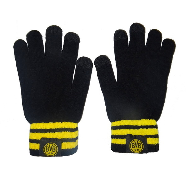 Теплые вязаные перчатки с эмблемой Боруссии